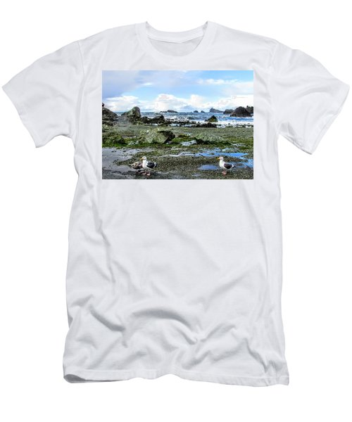 Gulls Men's T-Shirt (Slim Fit) by Marilyn Diaz