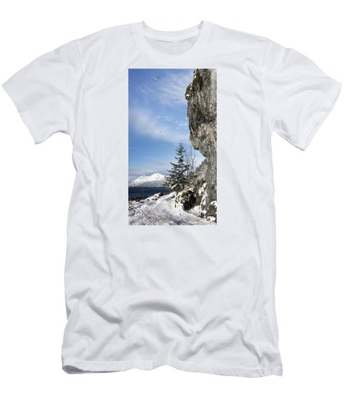 Men's T-Shirt (Slim Fit) featuring the photograph Gulls Of Winter by Michele Cornelius