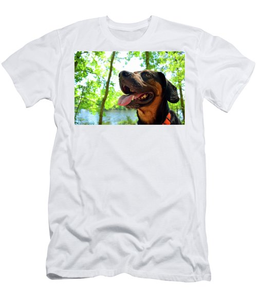 Gus On A Hike Men's T-Shirt (Athletic Fit)