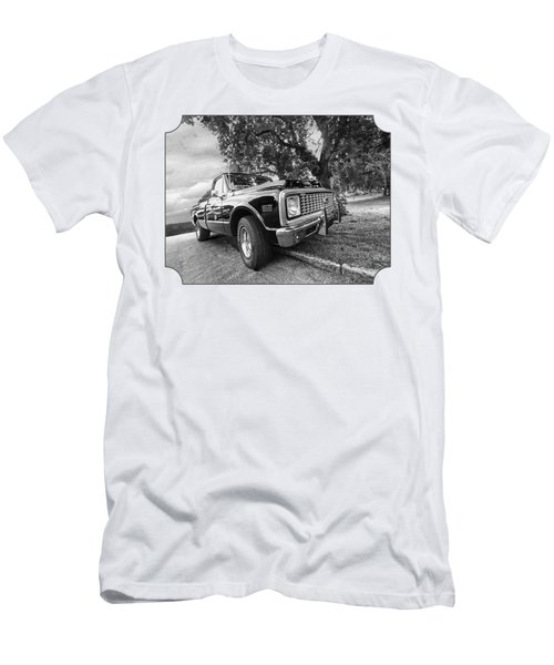 Halcyon Days - 1971 Chevy Pickup Bw Men's T-Shirt (Slim Fit) by Gill Billington