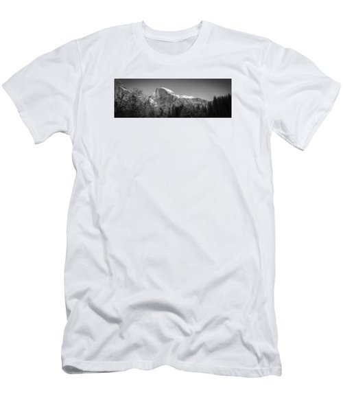 Half Dome In Winter Men's T-Shirt (Athletic Fit)