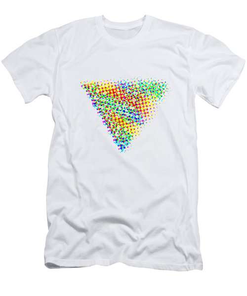 Halftone Triangle  Men's T-Shirt (Athletic Fit)