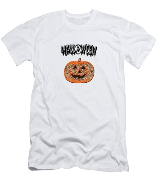 Halloween Pumpkin Men's T-Shirt (Slim Fit) by Judy Hall-Folde
