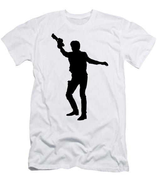 Han Solo Star Wars Tee Men's T-Shirt (Slim Fit) by Edward Fielding