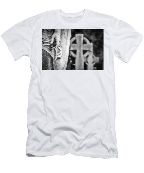 Hand And Cross Men's T-Shirt (Athletic Fit)