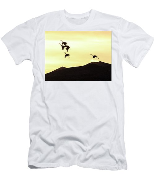Men's T-Shirt (Athletic Fit) featuring the photograph Hang Time by Marla Craven