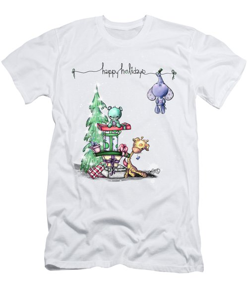Hanging Around For The Holidays Men's T-Shirt (Slim Fit) by Lizzy Love