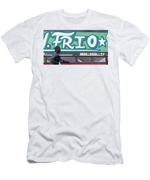 Men's T-Shirt (Slim Fit) featuring the photograph Hanging Out On Frio Street by Joe Jake Pratt
