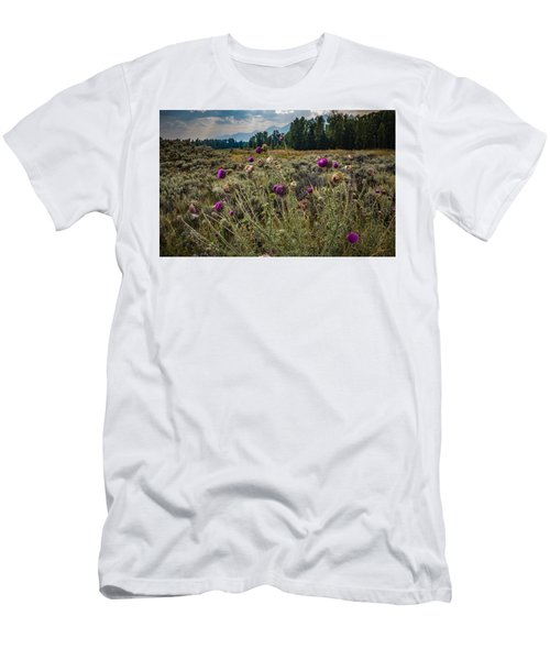 Happier In The Mountains Men's T-Shirt (Athletic Fit)