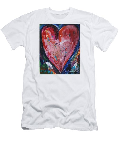 Men's T-Shirt (Slim Fit) featuring the painting Happiness by Diana Bursztein