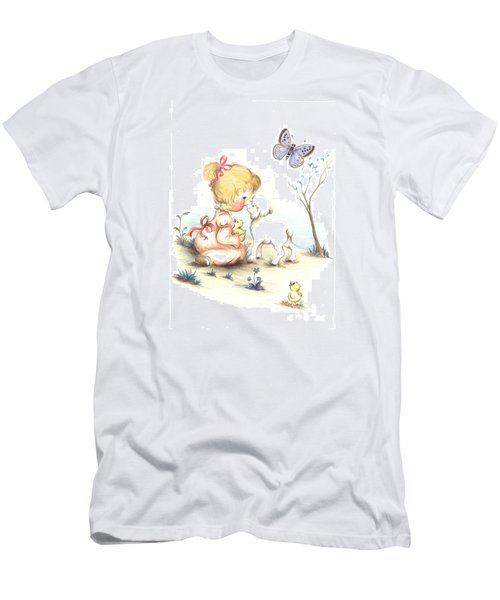 Men's T-Shirt (Slim Fit) featuring the drawing Happiness by Sorin Apostolescu