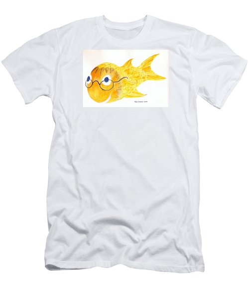 Happy Fish With Glasses Men's T-Shirt (Slim Fit) by Fred Jinkins