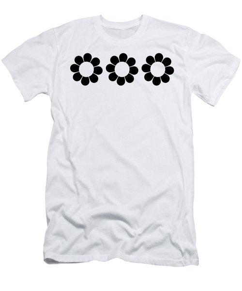Happy Flower Trio  Men's T-Shirt (Athletic Fit)