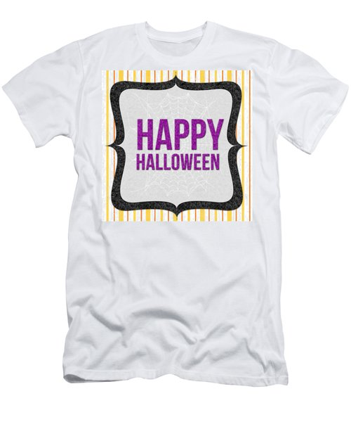 Happy Halloween-art By Linda Woods Men's T-Shirt (Athletic Fit)