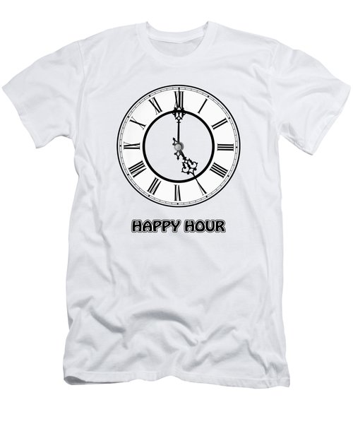 Happy Hour - White And Blue Men's T-Shirt (Athletic Fit)