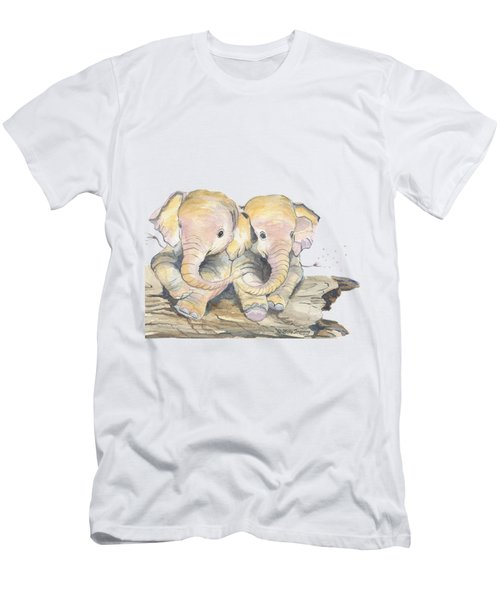 Happy Little Elephants Men's T-Shirt (Athletic Fit)