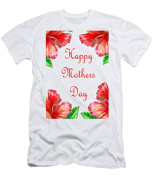 Happy Mothers Day Hibiscus Men's T-Shirt (Athletic Fit)