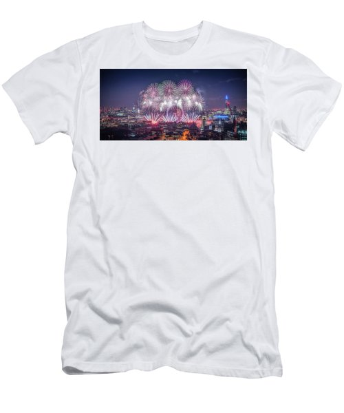Happy New Year 2018 Men's T-Shirt (Athletic Fit)