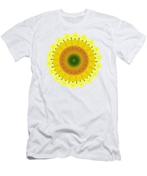 Happy Sunflower Mandala By Kaye Menner Men's T-Shirt (Athletic Fit)