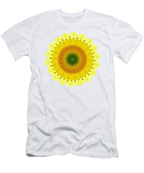 Happy Sunflower Mandala By Kaye Menner Men's T-Shirt (Athletic Fit)