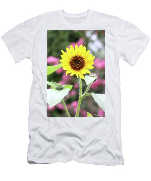 Men's T-Shirt (Athletic Fit) featuring the photograph Happy Sunflower by Trina Ansel