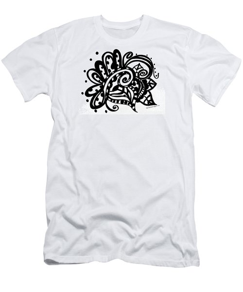 Happy Swirl Doodle Men's T-Shirt (Athletic Fit)