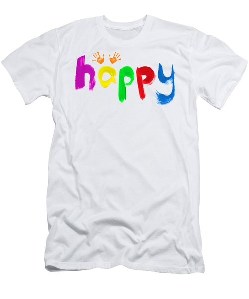 Happy Men's T-Shirt (Slim Fit) by Tim Gainey