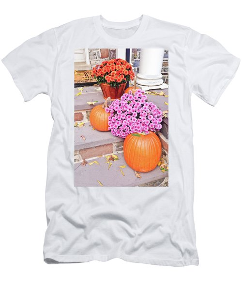 Happy Thanksgiving Men's T-Shirt (Slim Fit) by Ann Murphy