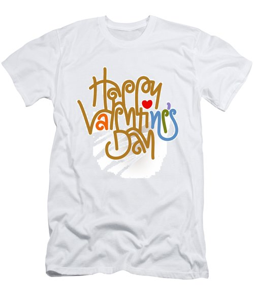 Happy Valentine's Day Poster Men's T-Shirt (Athletic Fit)
