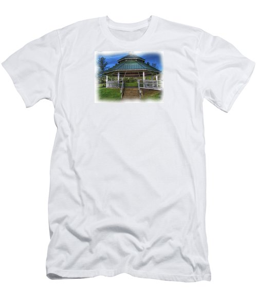 Men's T-Shirt (Slim Fit) featuring the photograph Happy Valley Gazebo Art  by Thom Zehrfeld