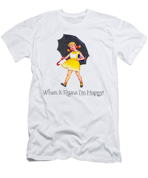 Happy When It Rains  Men's T-Shirt (Athletic Fit)