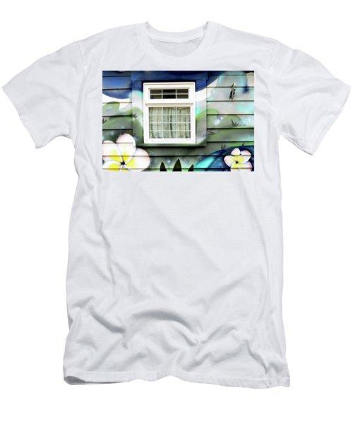 Happy Window Men's T-Shirt (Slim Fit) by Haleh Mahbod