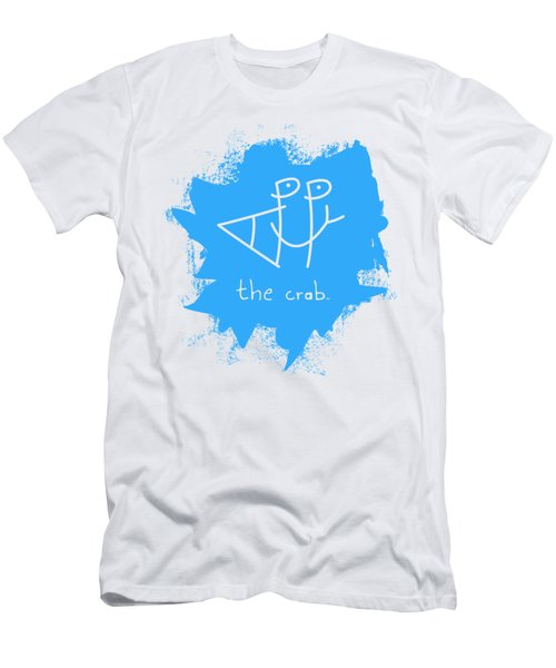 Happy The Crab - Blue Men's T-Shirt (Athletic Fit)