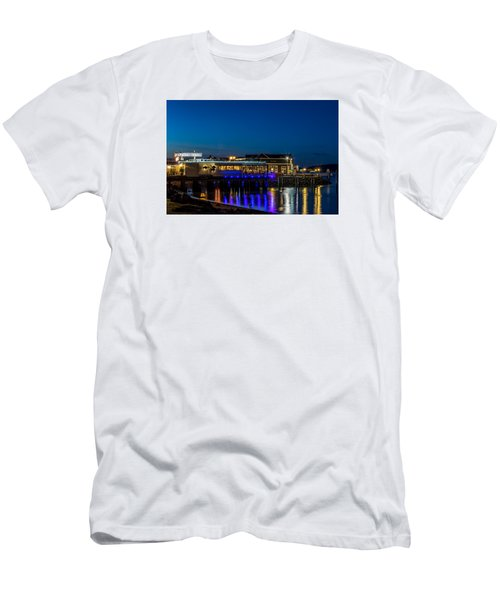 Harbor Lights During Blue Hour Men's T-Shirt (Slim Fit) by Rob Green