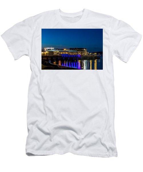 Harbor Lights During Blue Hour Men's T-Shirt (Athletic Fit)