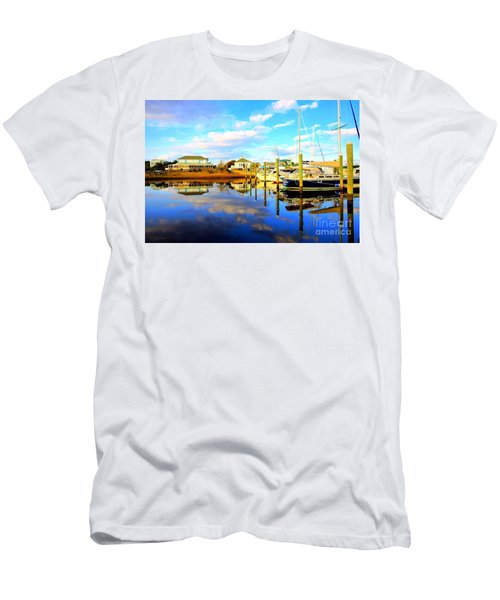 Harbour Reflections Men's T-Shirt (Slim Fit) by Shelia Kempf