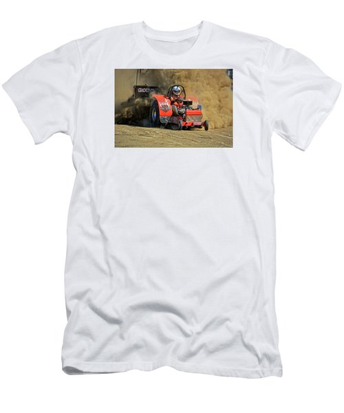 Hard Drive Pulling Tractor Men's T-Shirt (Slim Fit) by Mike Martin