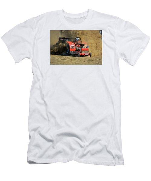 Hard Drive Pulling Tractor Men's T-Shirt (Slim Fit)