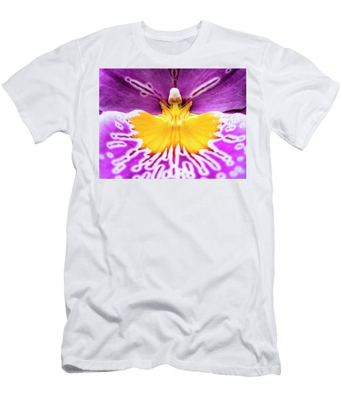Men's T-Shirt (Athletic Fit) featuring the photograph Hardhat Soldier/orchid by Penny Lisowski