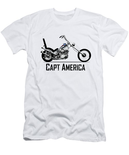 Harley Captain America Men's T-Shirt (Athletic Fit)
