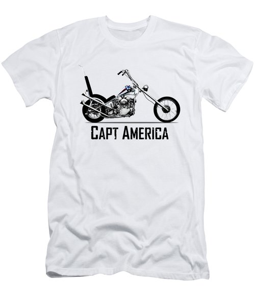 Harley Captain America Men's T-Shirt (Athletic Fit)