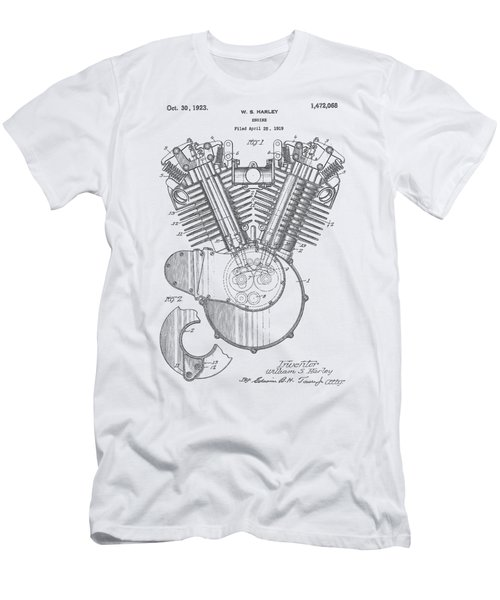 Harley Engine Patent Drawing Men's T-Shirt (Athletic Fit)