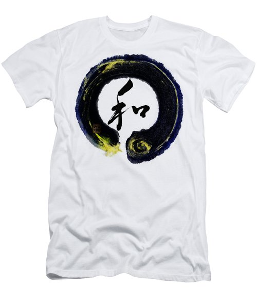 Harmony - Peace With Enso Men's T-Shirt (Slim Fit) by Peter v Quenter