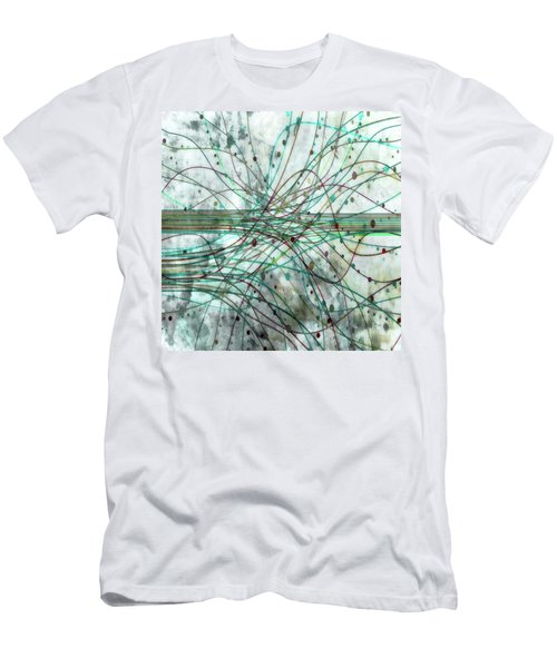 Men's T-Shirt (Slim Fit) featuring the digital art Harnessing Energy 3 by Angelina Vick