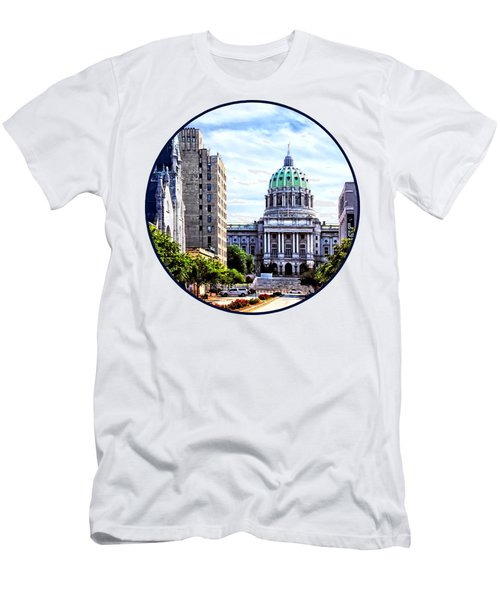 Harrisburg Pa - Capitol Building Seen From State Street Men's T-Shirt (Athletic Fit)