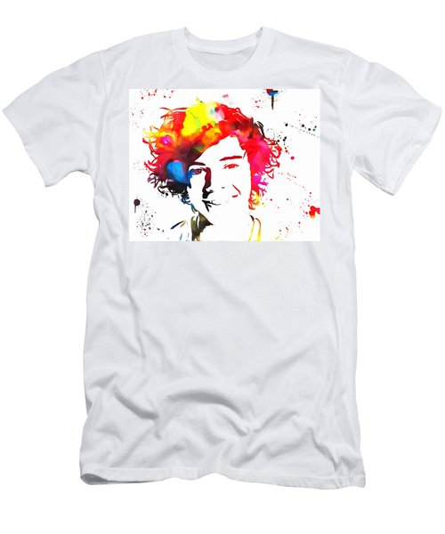 Harry Styles Paint Splatter Men's T-Shirt (Slim Fit) by Dan Sproul