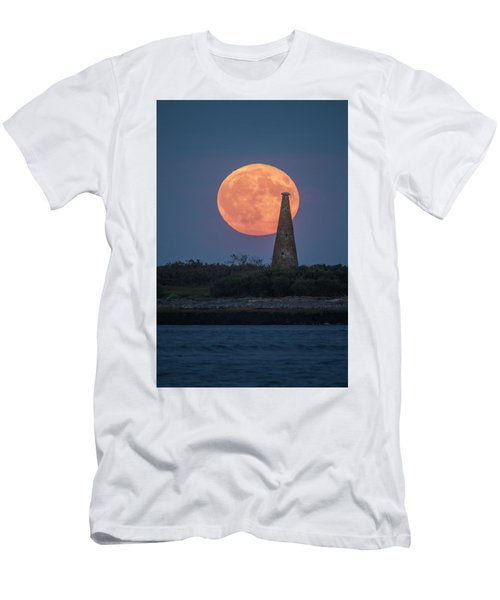 Harvest Moon Over Stage Island, Maine Men's T-Shirt (Athletic Fit)
