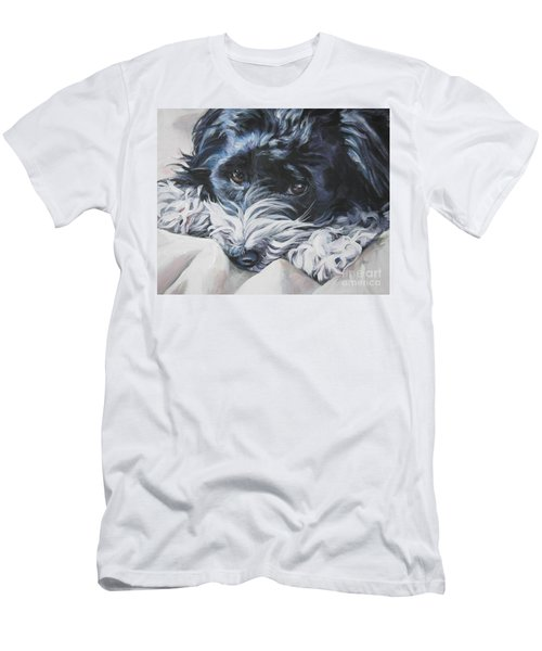 Havanese Black And White Men's T-Shirt (Athletic Fit)