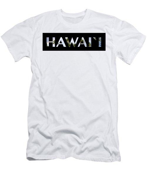 Hawaii Letter Art Men's T-Shirt (Slim Fit) by Saya Studios