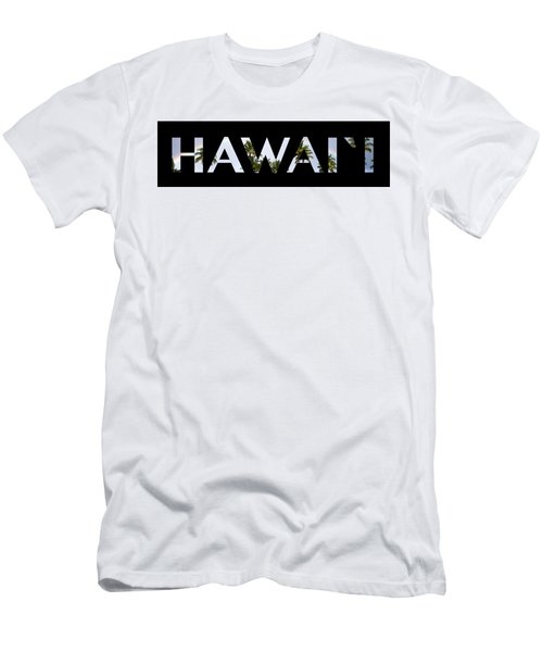 Hawaii Letter Art Men's T-Shirt (Athletic Fit)